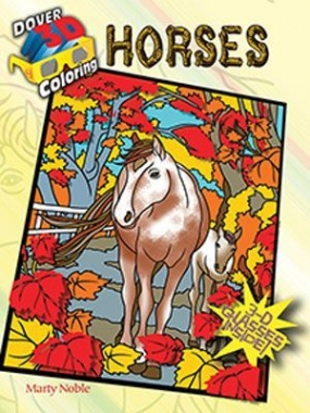 3-D Horses Coloring Book with 3-D Glasses: Chicks Discount Saddlery