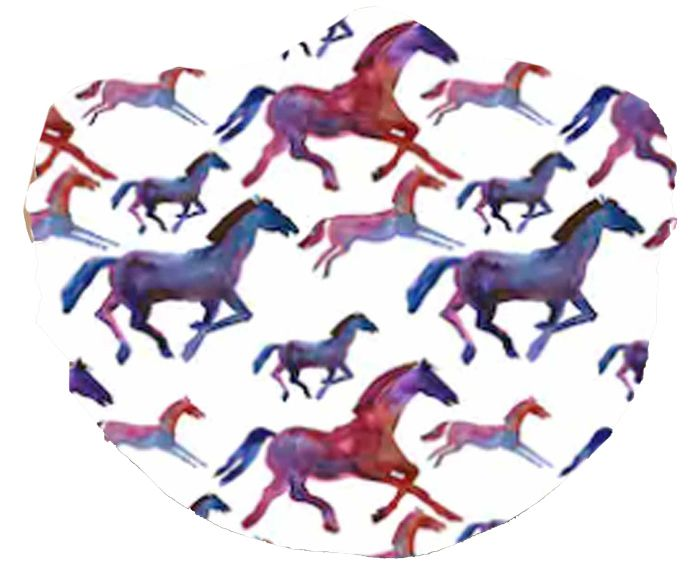 Horse Print Face Mask Abstract Horses Chicks Discount Saddlery