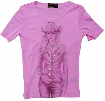 81d5cae874d4c Rhinestone-Studded Cowgirl Short Sleeve Sheer Shirt  Chicks Discount  Saddlery