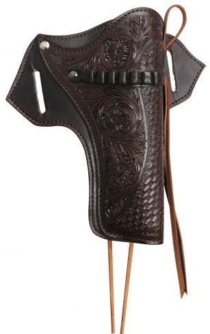 56841249561c74 Showman 22 Caliber Gun Holster With Basket And Floral Tooling