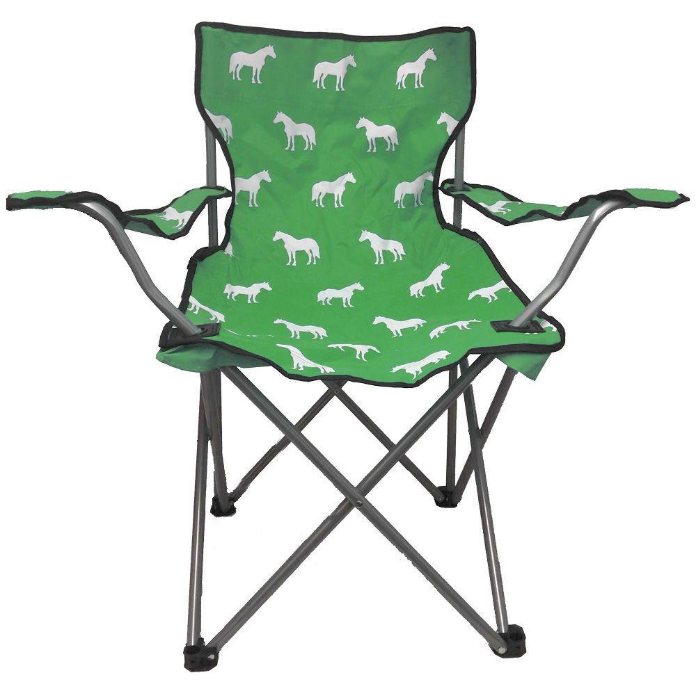 Horse Print Folding Camp Chair