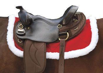 Christmas Horse Tack.Christmas Holiday Saddle Pad Western