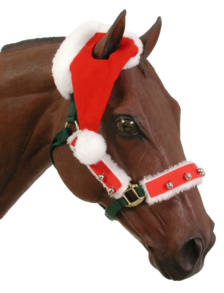 Santa One-Ear Horse Cap