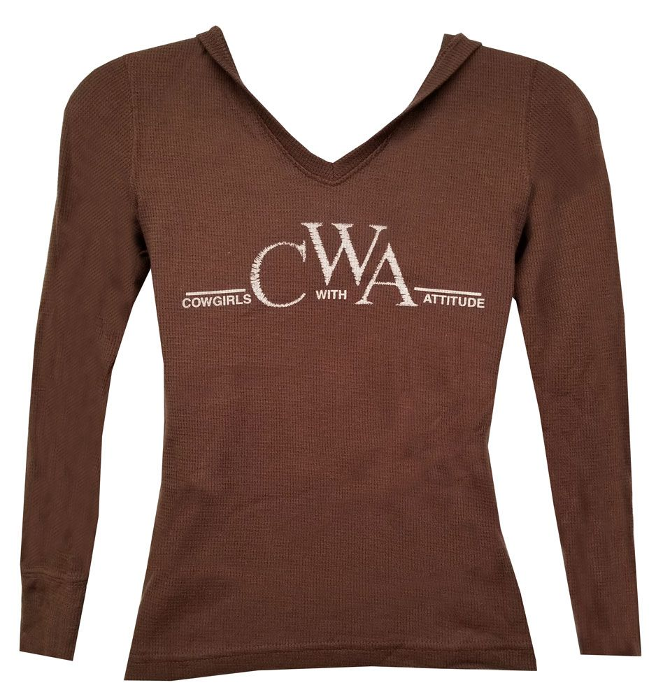 00838fae7 Cowgirls With Attitude Thermal Hooded Shirt - Girls