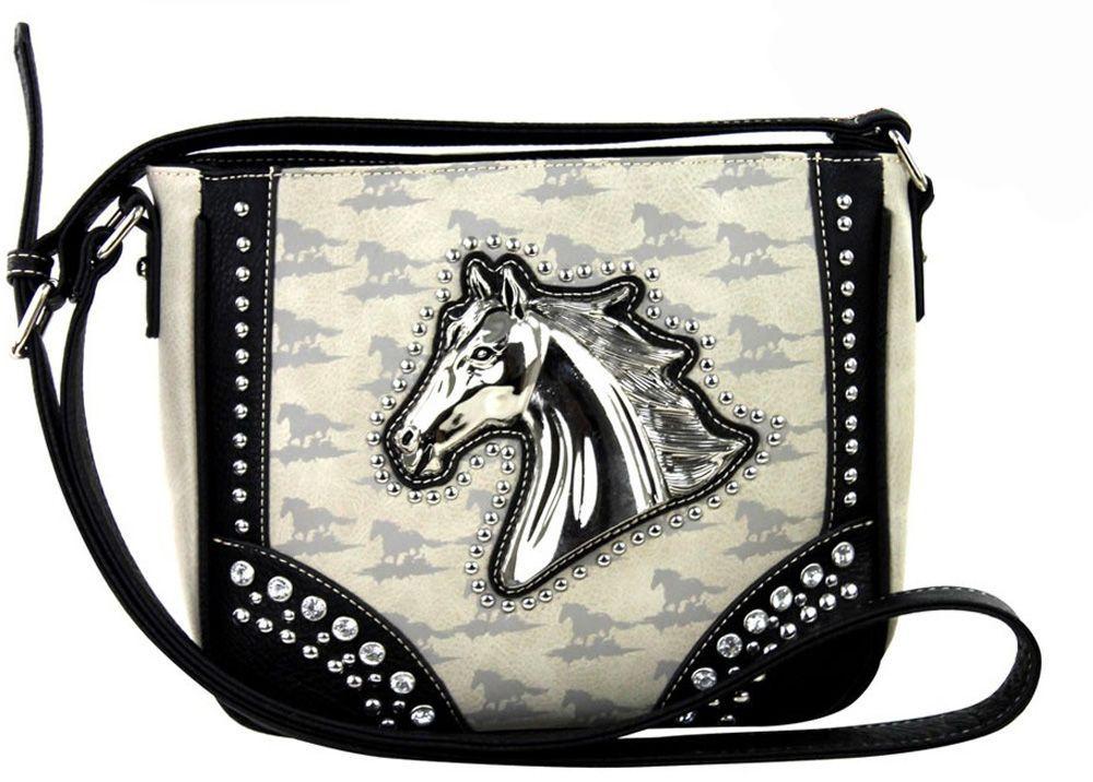 df06b759c9 Montana West Horse Head Medallion Conceal Carry Crossbody Handbag
