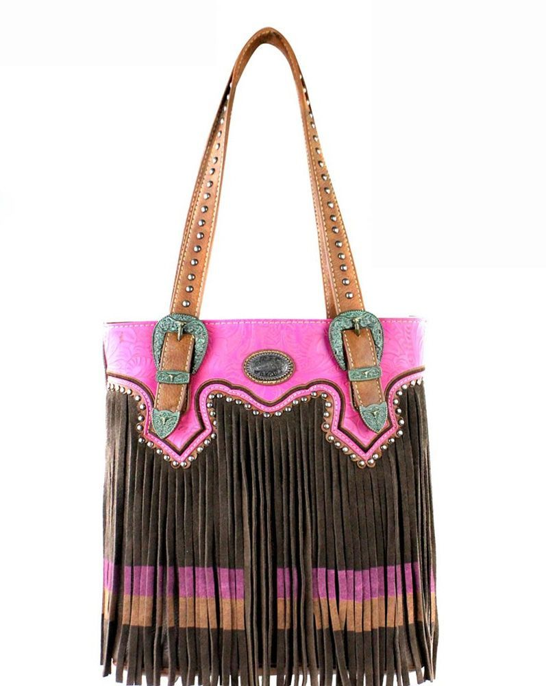 Montana West Fringe Collection Conceal Carry Tote Handbag