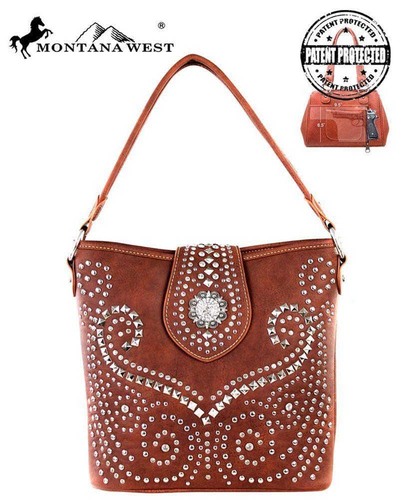 The Montana West Bling Collection Conceal Carry Hobo Bag