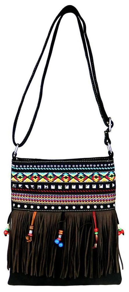 8a8e4f4e46c0 Montana West Fringe Collection Conceal/Carry Canvas Crossbody Bag ...