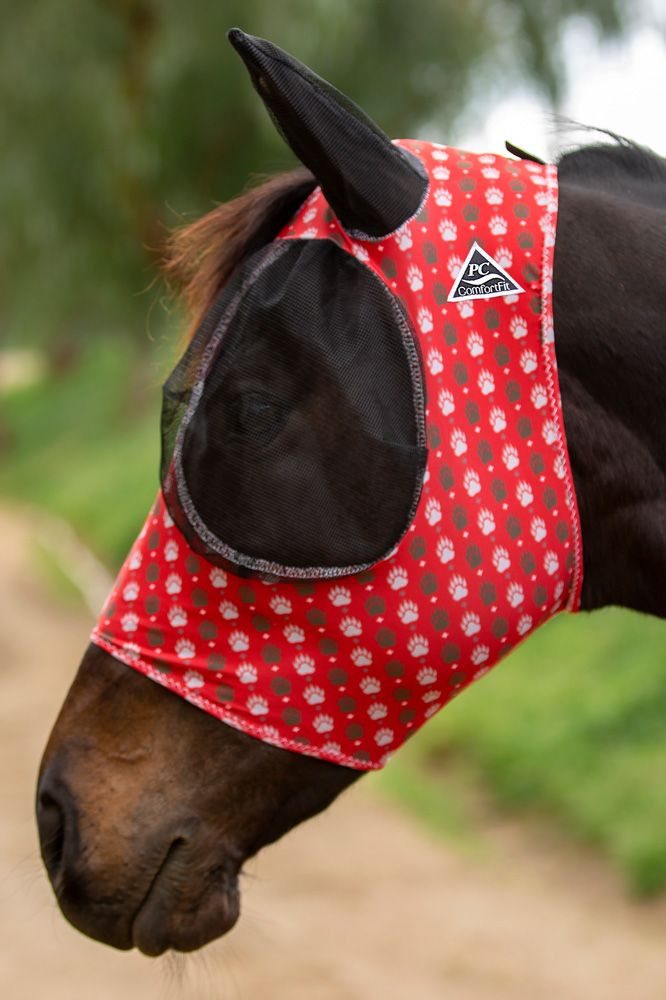 Professionals Choice Comfort Fit Lycra Fly Mask - Bear Paw: Chicks Discount  Saddlery