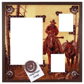 3 Photo Western Tin Picture Frame Chicks Discount Saddlery