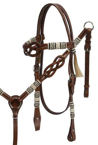 C-TAR1 Western Horse Headstall Breast Collar Set Tack American Leather Diamond