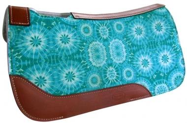 Showman Pony 24 x 24 Tie-Dye Print Felt Saddle Pad